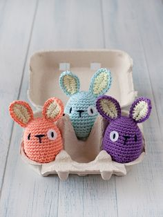 Variation on free revelry egg pattern combined with bi-ped rabbit pattern from…