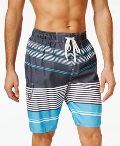 Newport Blue At A Slant Swim Trunks