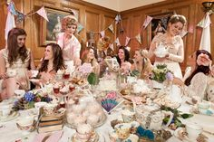 A Quintessentially British Royal Wedding Tea Party photo shoot via RockNRollBride.