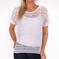 Tommy Bahama Lea Pullover #VonMaur #TommyBahama #White #Sheer #Knit
