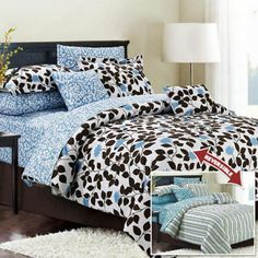 Get 20 different looks with this 10 Piece Comforter Set. This set i...