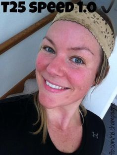 Gotta love a red face. Goodbye impurities!  Moving into week 3 of T25. #teamlyb