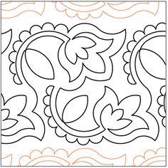 Henna Flowers - Pantograph