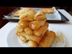 rolls with potato and ham! Snack Recipes, Cooking Recipes, Snacks, Filo Recipe, Dessert, Greek Recipes, Ham, Food Processor Recipes, Pineapple