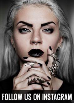 Rogue + Wolf #makeup inspiration #goth #witch