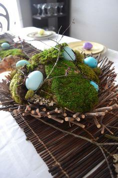Ostern Dekoration Tisch Moos Ostereier gestalten repinned by www.landfrauenverband-wh.de #landfrauen #landfrauen wü-ho #württemberg #hohenzollern