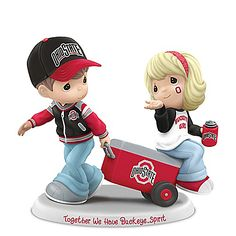 Shop The Bradford Exchange for Precious Moments Buckeye Pride Figurine Collection. When it's game day, devoted Ohio State University® Buckeyes® fans sport their excitement many different ways. Now, the Precious Moments® Buckeye® Pride Figurine. Ohio State Buckeyes, Buckeyes Football, Ohio State Football, Ohio State University, American Football, Ohio State Michigan, College Football, Ohio State Decor, Ohio State Rooms