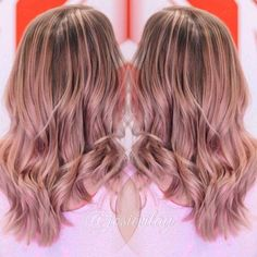 One Of The Toners We Did On Our Model From Balayage Cl Dusty Antique Pink