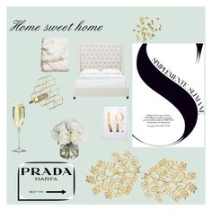 """Home sweet home"" by enfashionistas on Polyvore featuring interior, interiors, interior design, home, home decor, interior decorating, H&M, Diane James, Dot & Bo and Prada"