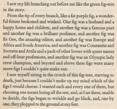 """One of my favorite parts from """"The Bell Jar"""" by Sylvia Plath."""