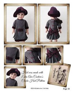 1912 Apron Dress 18 inch Doll Clothes PDF Pattern Download | Pixie Faire