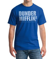 Dunder Mifflin T-shirt from the TV show the Office by urbanaddictsales on Etsy https://www.etsy.com/listing/125214259/dunder-mifflin-t-shirt-from-the-tv-show