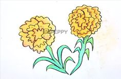 How to draw flower drawings step by step for kids