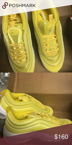 free shipping bfbc9 66be8 Nike Air Max 97 Yellow Air Max 96 Sz 6.5 Nike Shoes Athletic Shoes