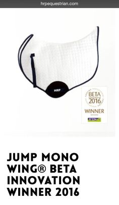 HRP® Jump Mono WING®. BETA International Innovation Award WINNER. This Mono WING® saddle pad is the award winning original that inspired many other curved spine designs. 'SUPERIOR to conventional pads' ~Horse & Hound Magazine! HRP® Pressure Reducing WING® Saddle Pads exert NO pressure behind the saddle over the lumbar spinous processes. Order online: www.hrpequestrian.com  Made in the UK 🇬🇧