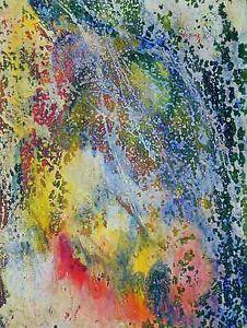 """Gemälde, vom Künstler direkt """"subway"""" Hajewski, Germany 2011, mixmedia: Oil, Acryl,Tempera auf Leinwand (echt Leinen), Größe: 18x24cm, mit Fixativ überzogen, signiert, Zustand ausgezeichnet,"""