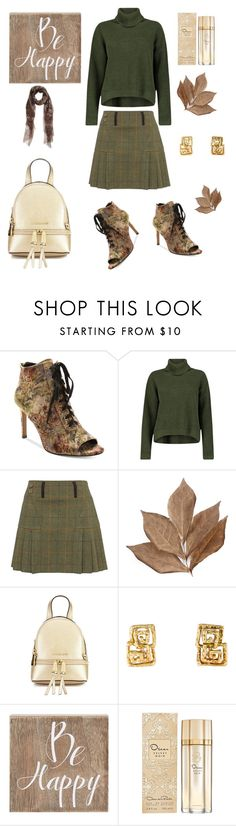 """hello autumn"" by tracy-mizo ❤ liked on Polyvore featuring Nanette Lepore, Boohoo, Bliss Studio, Belle Maison, Oscar de la Renta and Valentino"
