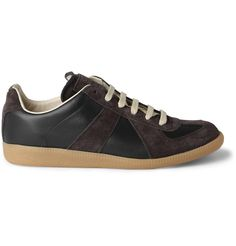 589923f63 Maison Martin Margiela Suede and Leather-Panelled Sneakers