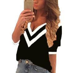 New Spring Autumn Sexy Tee Tops Women Casual Deep V Neck Splicing Blouses Ladies Loose Shirts Blusas Plus Size XS-3XL