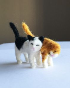 ~~ BFF~~ Needle felted miniature kittens by CatsyCharm