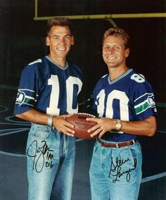 "Jim Zorn and Steve Largent ""back in the day"""