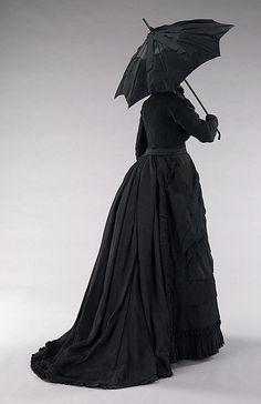 Mourning ensemble Date: ca. 1870 Culture: American Medium: silk Accession Number: 2009.300.633a–c