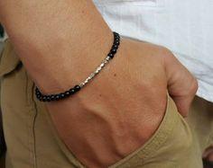 Items I Love by Tim on Etsy Gemstone Bracelets, Gemstone Necklace, Bracelets For Men, Shambala Bracelet, Yoga Bracelet, Spartan Men, Men Accesories, Necklace Designs, Black Onyx