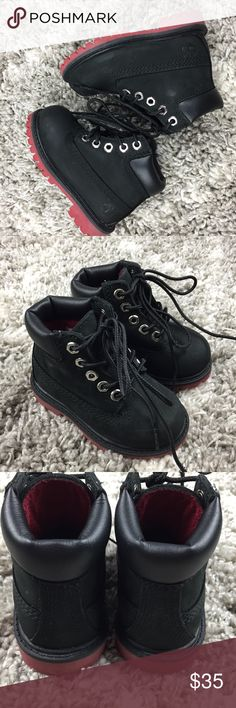 Timberland Baby Boy's Black Suede Ankle Boots 4.5 Timberland Baby Boys Ankle Boots Black Suede Winter Shoes Size: 4.5 Color: Black Condition: Excellent pre-owned Ships Fast! Timberland Shoes Boots