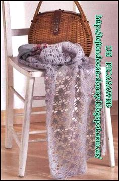 TEJIDOS A CROCHET - GANCHILLO  - PATRONES: crochet knitted scarf