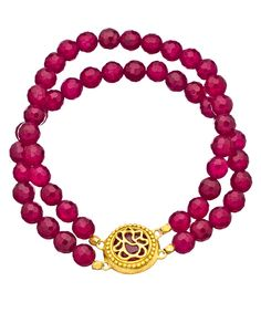 Satya Jewelry Double Up Beaded Agate Bracelet