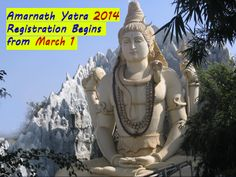 Registrations for Amarnath Yatra 2014 Starts from Today, March 1