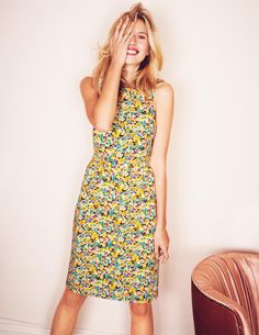 Shift Dress (in Yellow Field Flowers) | Boden. #cocktail