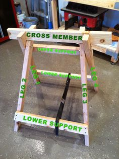 Weekend warriors, here's a sawhorse you can build for yourself.