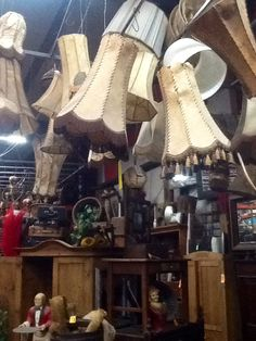 How about Oodles of Lamp shades at DeRidders Antiques Forney, Texas