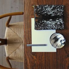 A serene workspace. Tablet cover in goat hide by Fortenai.