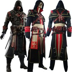Kids Boys Assassins Creed Rogue Shay Patrick Cormac Ouitfit Hoodie Suit Uniform Halloween Cosplay Costume