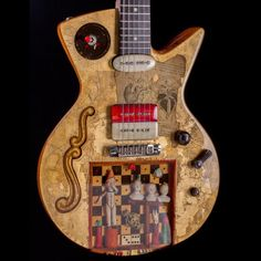 Spalt Instruments Pierrot's Nightmare Boutique Electric Guitar by Michael Spalt Custom built for the Boutique Guitar Showcase Special Discounted Sale Pricing Guitar Body, Guitar Art, Cool Guitar, Homemade Instruments, Bass, Music Wall, Piano Teaching, Guitar Building, Beautiful Guitars