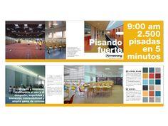 Campaña de Marketing Directo dirigida a Arquitectos para comunicar suelos específicos para colegios, escuelas, universidades,... 2012. Armstrong SLW - España, Portugal e Italia