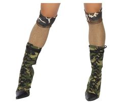 dabdd7b0686 Sexy Roma Camouflage Army Knee Highs Stockings Military Costumes For Women