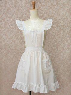 フリルエプロン (Frill Apron) Alice Costume, Apron Designs, Lolita Fashion, No Frills, Victorian, Costumes, Aprons, Loft, Shopping