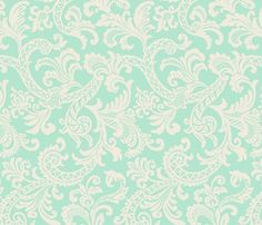 Paisley Scroll fabric by littlerhodydesign for sale on Spoonflower - custom fabric, wallpaper and wall decals