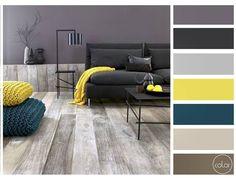"""Azul amarelo cinza madeira. Bela harmonia belas peças. Simplicidade! ----- """"Blue…"""