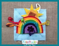 A true rainWow. Baby Quiet Book, Quiet Books, Book Activities, Puzzle, Christmas Ornaments, Learning, Holiday Decor, Puzzles, Christmas Jewelry
