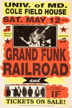 Grand Funk Railroad Cole Field House Concert 1973
