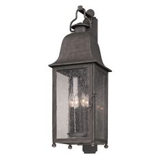 Aged Pewter Larchmont Large One-Light Fluorescent Wall Mount