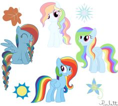 Soarin and Rainbow Dash kids