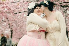 So cute! A blissful Stockholm cherry blossom wedding   Offbeat Bride (via @Anna Thiel)