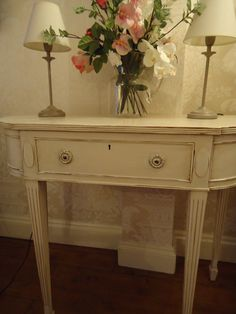 Chicinteriorsoflondon vintaged distressed neoclassical style hall/pier table.   Another of my favourite pieces of furniture that I have had the pleasure to work on!