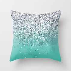 Spark Variations I Throw Pillow by Rain Carnival - $20.00
