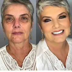 26 Makeup Tricks for Older Women - Page . - 26 Makeup Tricks for Older Women – Page 2 of 4 26 Makeup Tricks for Older Women – Page 2 of 4 - Beauty Makeover, Makeup Makeover, Eye Makeup, Contour Makeup, Makeup Tricks, Mother Of Bride Makeup, Makeup Tips For Older Women, Older Woman Makeup, Makeup For Mature Skin
